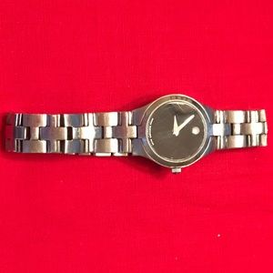 Genuine Movado Classic Black Stainless Steel Watch